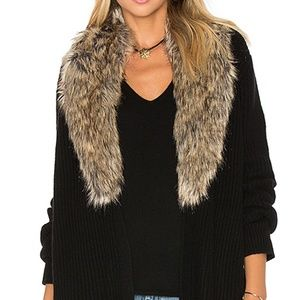 SALE!! Joie faux fur open oversized cardigan